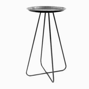 Tall New Casablanca Table in Silver by Young & Battaglia for Mineheart, 2018