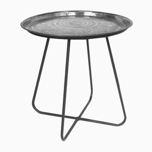 Short New Casablanca Table in Silver by Young & Battaglia for Mineheart, 2018