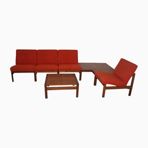 Set da salotto vintage modulare di Ole Gjerlov-Knudsen & Torben Lind per Cado