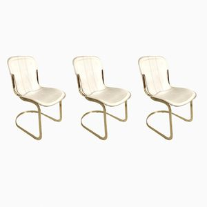 Chairs by Willy Rizzo for Cidue, 1970s, Set of 3