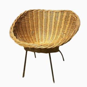 Rattan Round Chair, 1970s