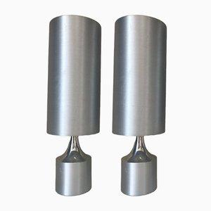 Aluminium Lampen, 1970er, 2er Set