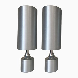 Lámparas de aluminio, años 70. Juego de 2