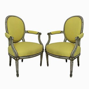 18th-Century Armchairs, 1870s, Set of 2