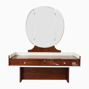 Rosewood and White-Lacquered Dressing Table, 1960s