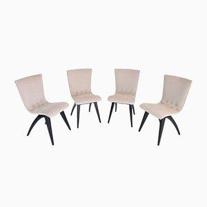 Niederländische Esszimmerstühle von C.J. Van Os Culemborg, 1950er, 4er Set