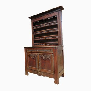 Antique French Oak Two Part Dresser