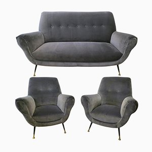 Mid-Century Italian Sofa Suite by Gigi Radice