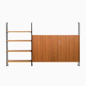 Mueble de pared modular alemán de Ernst Hilker para Omnia, años 50