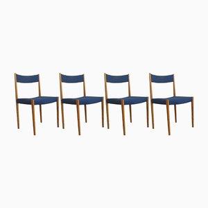 Kirschholz Esszimmerstühle von Lübke, 1960er, 4er Set