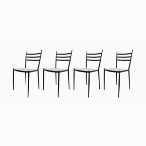 Metal Dining Chairs, 1950s, Set of 4