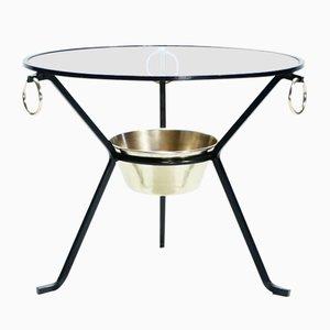Tavolino in ottone di Jacques Adnet, anni '50