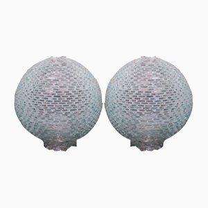 Murano Glas Tischlampen, 1970er, 2er Set