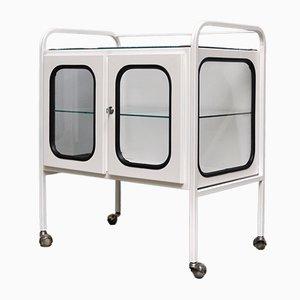 Medizinischer Vintage Rollwagen aus Eisen & Glas, 1970er