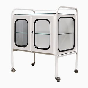 Vintage Medical Trolley in Iron & Glass, 1970s