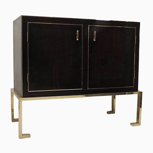 Italian Macassar & Brass Sideboard, 1940s