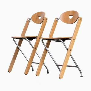 Folding Chairs by Ruud Jan Kokke for Kembo, 1980s, Set of 2