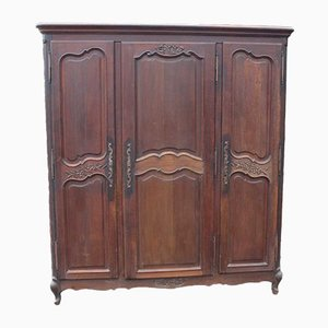 Large Oak Wardrobe with Three Doors, 1930s