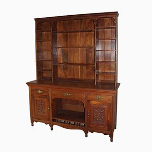 Large Carved Walnut Cupboard, 1920s