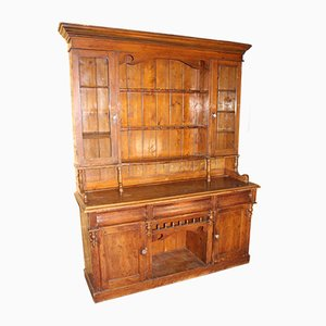 Large Pine Dresser with Rack, 1920s