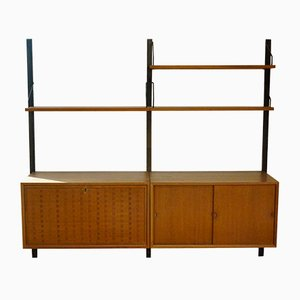 Modular Teak Wall Unit by Poul Cadovius for Cado, 1960s