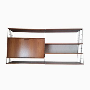 German Walnut Wall Unit with Compartment, 1960s