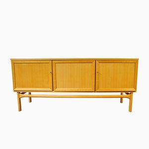 Mid-Century Cherrywood Sideboard with 3 Doors from Büker & Diekmann, 1969