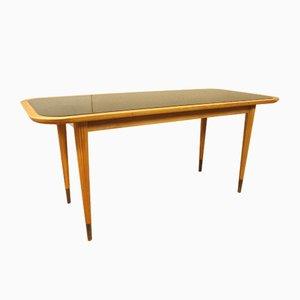 Table Basse avec Plateau en Verre Noir, Allemagne, 1950s