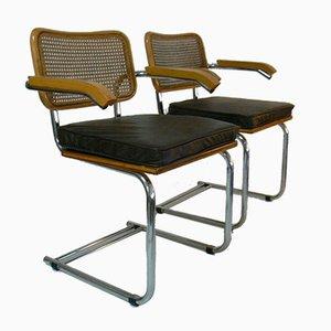 Industrielle Vintage Schichtholz Beistellstühle, 2er Set