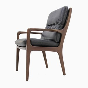 Mid-Century Danish Leather Armchair, 1962