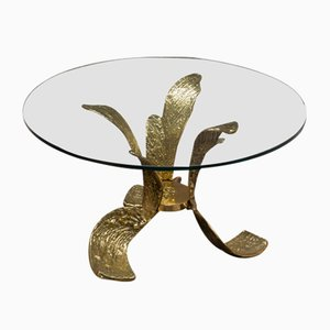 Round Vintage Bronze Table from Bagatti