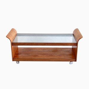 Tavolino da caffè vintage con ripiano in vetro di G-Plan