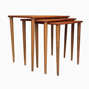Tables Gigognes Scandinaves en Teck, 1960s