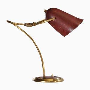 Lampe de Bureau en Laiton, France, 1950s