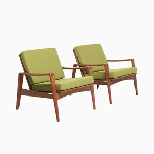 Teak Easy Chairs by Arne Wahl Iversen for Komfort, 1960s, Set of 2