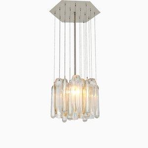 Lámpara de araña italiana de cristal de Murano, años 60