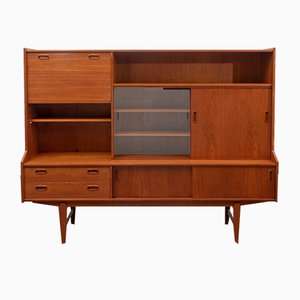 Mid-Century Highboard in Teak from O.M.F.