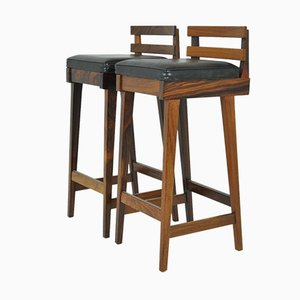 Danish Bar Stools in Rosewood by Erik Buch for Dyrlund, 1950s