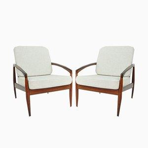 Paper Knife Chair Modell 161 aus Palisander von Kai Kristiansen für Magnus Olesen, 1963, 2er Set