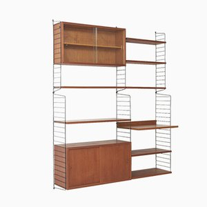Mid-Century Wall Unit by Kajsa & Nils 'Nisse' Strinning for String