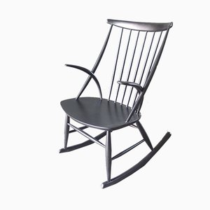 Rocking Chair Vintage par Illum Wikkelso pour Niels Eilersen, Danemark