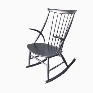 Vintage Danish Rocking Chair by Illum Wikkelso for Niels Eilersen