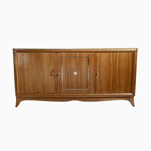 Modernist Cherry & Brass Sideboard, 1950s