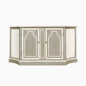 Mid-Century Grey & White Cupboard