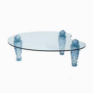 Mesa de centro de vidrio y resina de Garouste & Bonetti, años 90