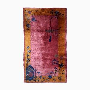 Handgefertigter chinesischer Art Deco Teppich, 1920er