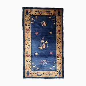 Art Deco Chinesische Handgefertigter Teppich, 1920er