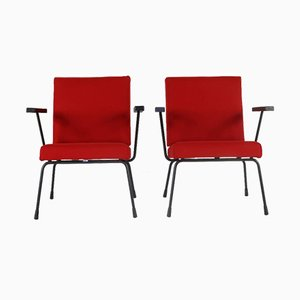 Model 415/1401 Armchairs by Wim Rietveld for Gispen, 1965, Set of 2