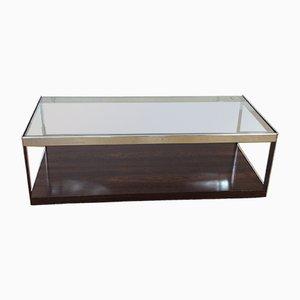 Tavolo in metallo cromato e vetro di Richard Young per Merrow Associates, anni '70