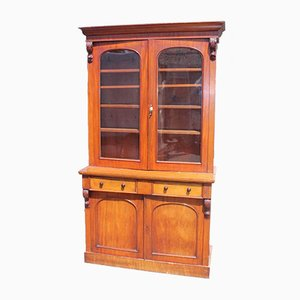 Victorian Mahogany Cupboard with Display Cabinet